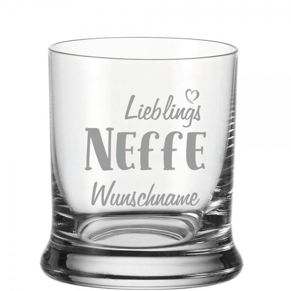 "Personalisiertes Whisky-Glas ""Lieblings-Neffe"" mit Namen"