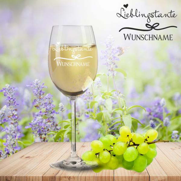 Weißweinglas von Leonardo Lieblingstante mit Namensgravur