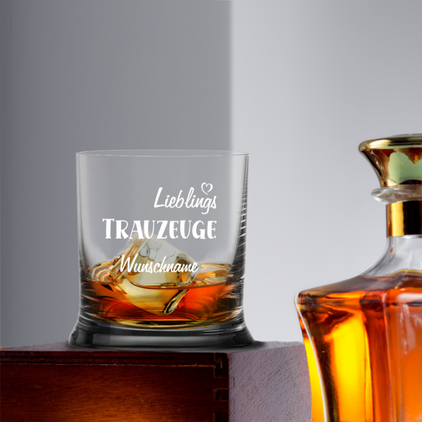 Whiskyglas Lieblings-Trauzueuge mit Namen