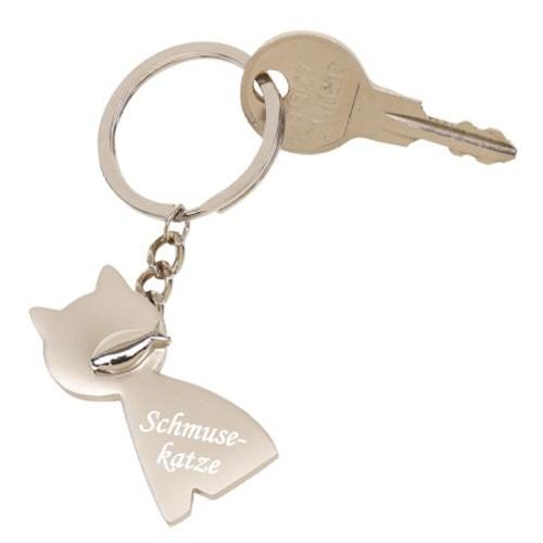 Trendgravur Schlüsselanhänger Katze